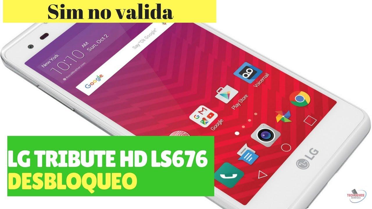 Unlock LG TRIBUTE HD ls676 sin no valida