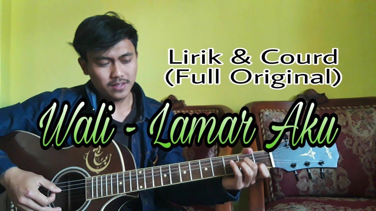 wali lamar cover akustik lirik kunci gitar full youtube