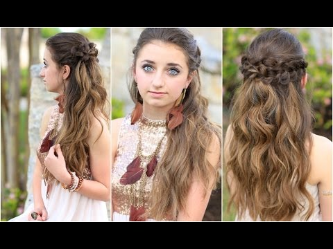 Braided Half Up Hairstyles For Prom YouTube