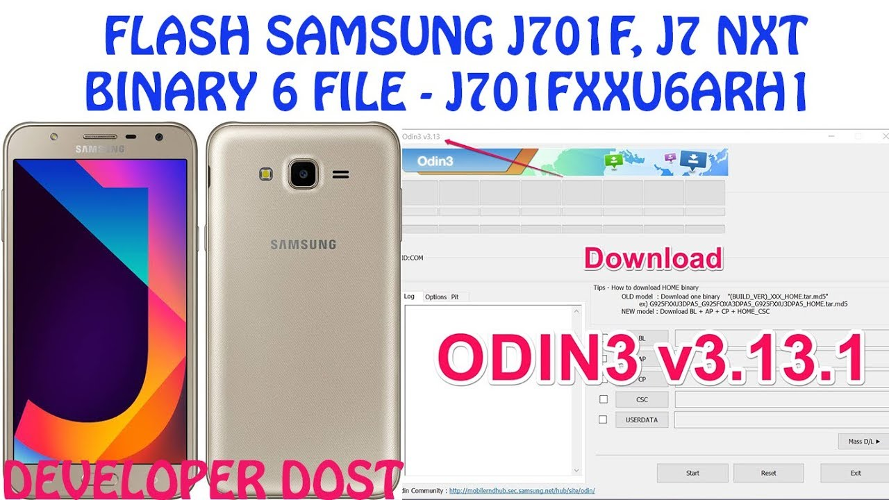 FLASH SAMSUNG J7 NXT, SM - J701F WITH UPDATED BINARY 6