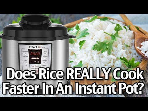 Does Rice REALLY Cook Faster In An Instant Pot? Instant Pot Review And Live Test!