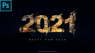Create Happy new Year 2020 Poster design Like Movie Poster Momentos Picture