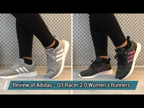 REVIEW OF @ADIDAS – QT RACER 2.0 WOMEN'S RUNNERS ON FEET LOOK