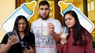 FAMILY TASTE TESTS MY BABIES MILK!!! *OMG*