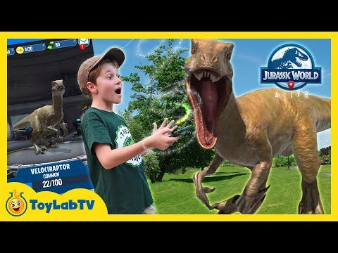 Jurassic World Alive Dinosaur Hunting! Family Fun Adventure Game with Giant Life Size Dinosaurs