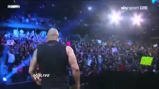 The Rock returns 2011 Heel theme with JR and King