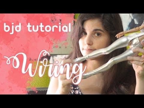 BJD WIRING Tutorial / Arreglando Piernas Lillycat Ninon