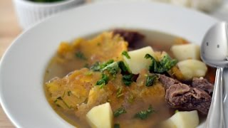 Fried Green Plantain Soup Recipe - How To Make Patacones Soup - Sweet Y Salado
