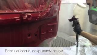 Покраска капота и бампера на Chevrolet Aveo