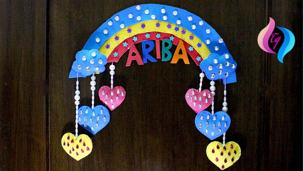 Wall Hanging Craft Ideas For Kids Part - 18: Rainbow Wall Hanging - Handmade Wall Hanging Ideas - Easy Craft Ideas For  Kids To Make At Home