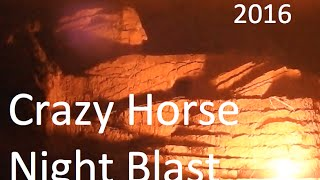 We took the boys up to the Crazy Horse night blast. Here's the big ...