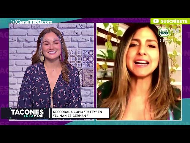 La actriz Aida Bossa estuvo en el tocador de Tacones en la Mano