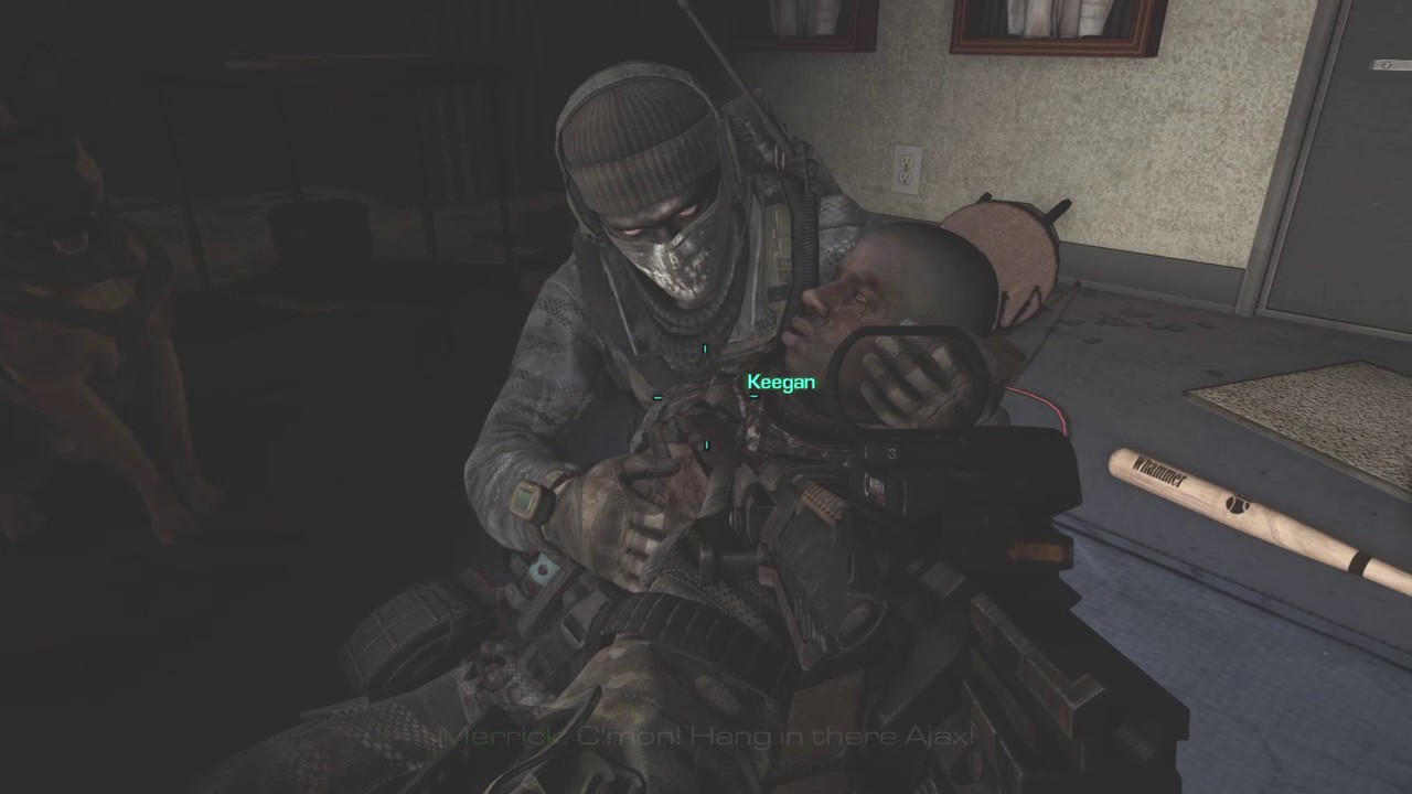 Ajax Death Scene Cod Ghosts Youtube