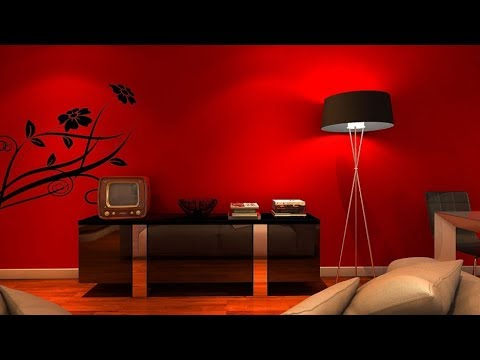 living-room-and-bedroom-decoration-with-red-&-black---visually-powerful