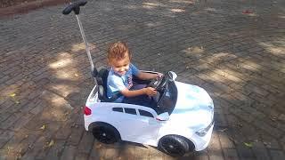 Первые уроки вождения ))