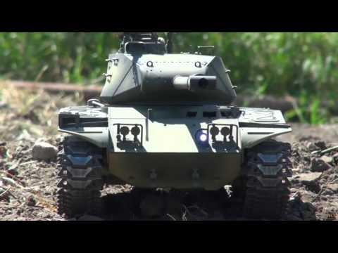 RC ADVENTURES   US M41 Walker Bulldog Airsoft Radio Controlled Battle Tank Taigen