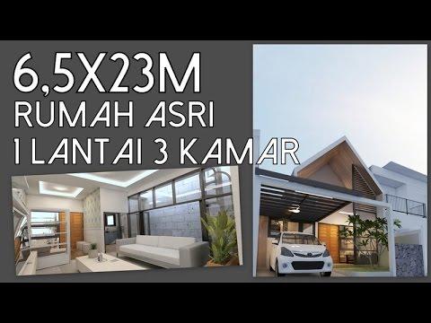 Rumah Asri satu lantai dengan 3 kamar tidur
