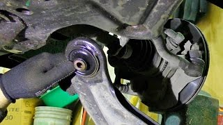 ремонт нижнего рычага, замена Шаровой опоры, сайлентблоков и стабилизаторной стойки на Daewoo Nexia