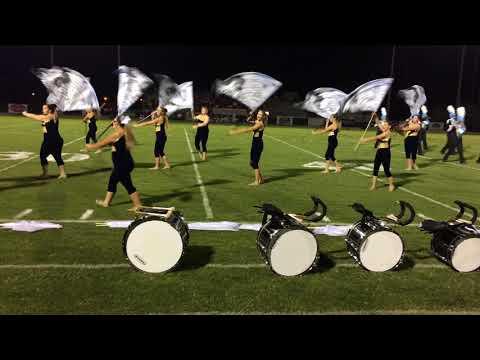 Brantley County High School Band Half time 08 18 2017
