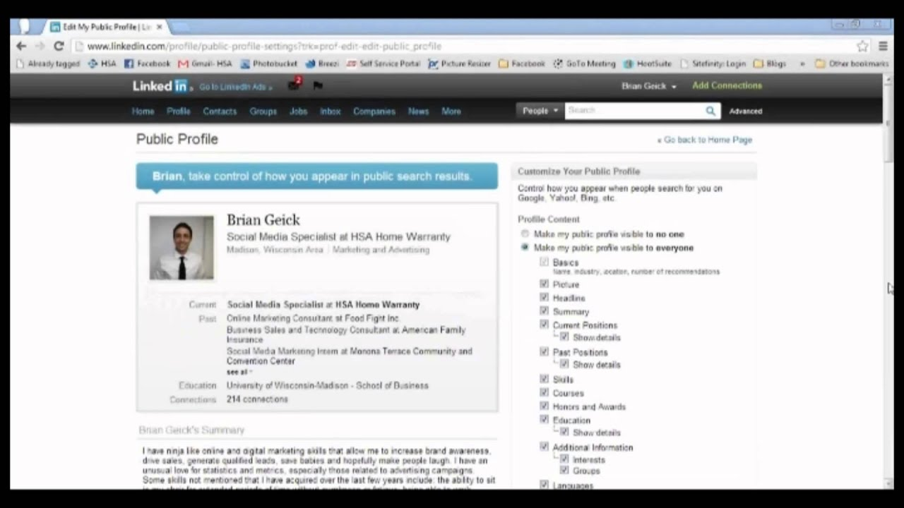 How To Set and Change Your LinkedIn URL
