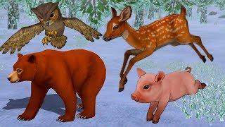 СИМУЛЯТОР МАЛЕНЬКОГО ПИТОМЦА #13 Маша и медведь Миша. Поросенок, Олененок, Совенок, Теленок и енот