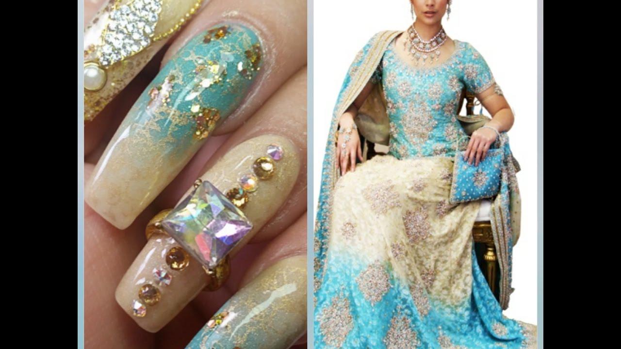 Uñas Estilo Hindu By Sabrina Colaboracion Con Lulis Nails Youtube