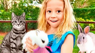 Nastya mendirikan kebun binatang di rumah, cerita anak-anakbaru