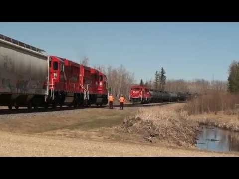CP's GP20C ECO locomotives in the Red Deer Alberta area April & May 2014