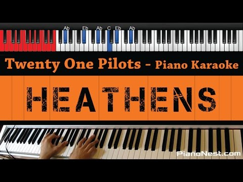 Twenty One Pilots - Heathens - HIGHER Key (Piano...