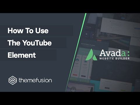 How To Use The YouTube Element Video