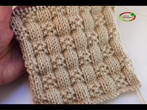 №87 Объемные квадраты спицами  Схема  узора для свитера - мальчику.  Knitting Pattern