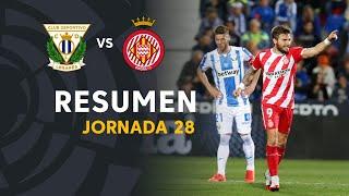 Resumen de CD Leganés vs Girona FC (0-2)