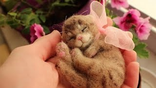 Валяние котенок