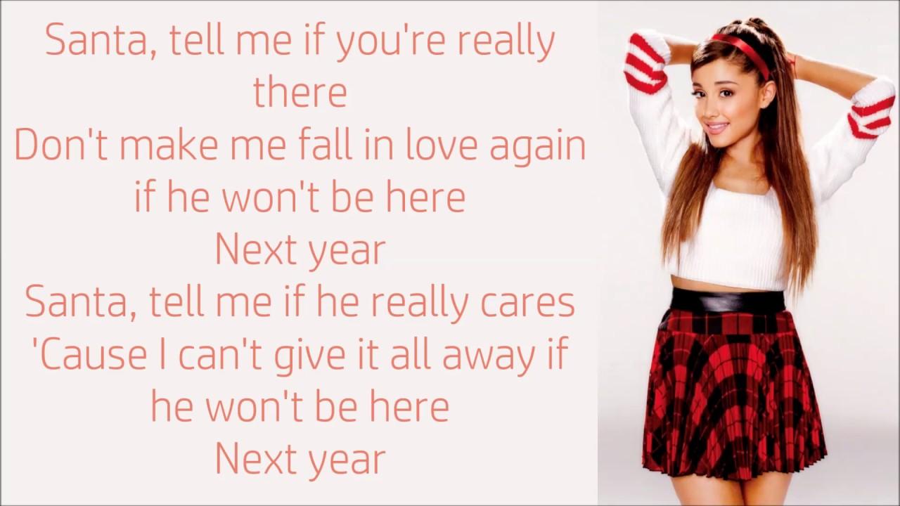 Ariana Grande ~ Santa Tell Me ~ Lyrics - YouTube