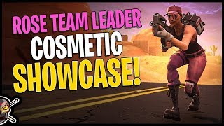 Rose Team Leader Cosmetic Showcase -Fortnite Save The World Free Skin in Battle Royale
