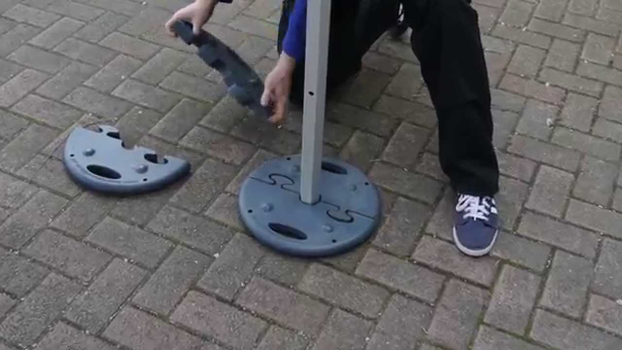 19kg Interlocking Gazebo Weight Plates By Instant Promotion Youtube