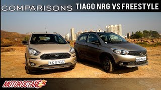 Tata Tiago NRG vs Ford Freestyle Comparison | Hindi | MotorOctane