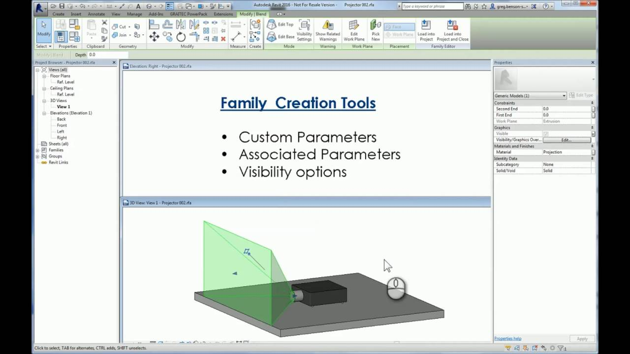 Associated Parameters in Revit Families to Control Visibility