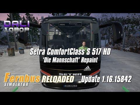 Fernbus Simulator | 'Die Mannschaft' Repaint | Setra ComfortClass S 517 HD