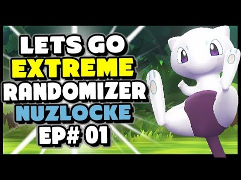 A Wild MEWTHREE?! - Pokemon Lets Go Pikachu And Eevee Extreme Randomizer Nuzlocke Episode 1