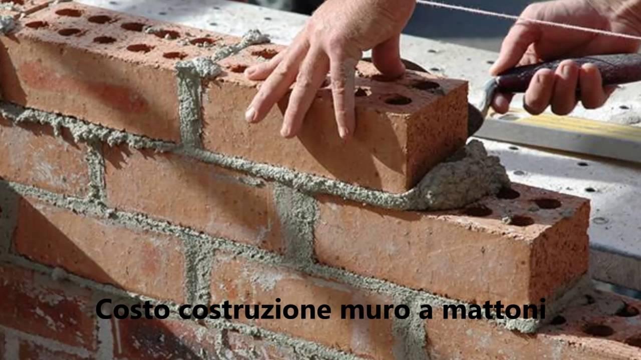 Preventivo Muro Cemento Armato.Costo Costruzione Muro A Mattoni Edilnet It Youtube