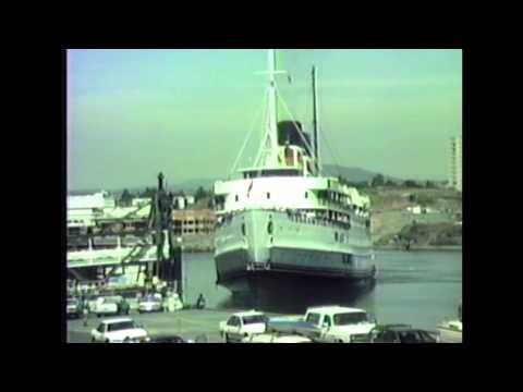 Steamship Princess Marguerite arrival and departure Victoria, British Columbia, 1988