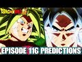 Dragon Ball Super Episode 116 Predictions! The Sign Of A Comeback! Ultra Instinct's Huge Explosion!