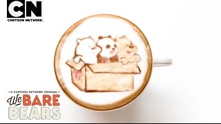 We Bare Bears | Adorable Baby Bear Coffee Art! | Cartoon Network