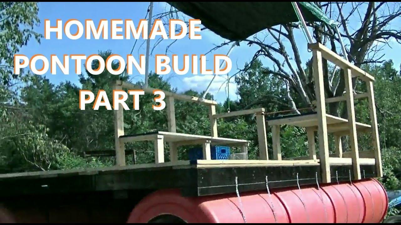 55 Gallon Barrel Pontoon Boat / Dock / Barge (Upcycling