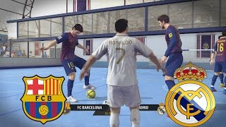 Fifa Street - El Clasico Barcelona vs Real Madrid en Un partido de Futbol Sala