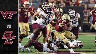 Virginia Tech vs. Boston College Football Highlights (2019)