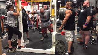 454kgs/1,000lbs Raw Squat w/ wraps (6-7-15)