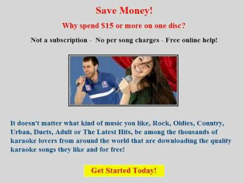 Find And Download Free Karaoke Songs