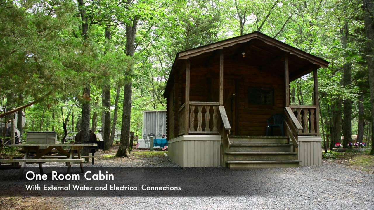 One Room Cabin Rental Ocean View Resort Campground